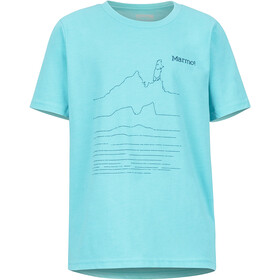 Marmot Purview Camiseta Manga Corta Niños, tahiti blue heather